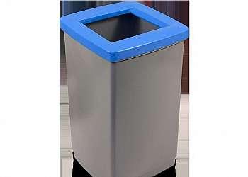 Cesto de lixo inox grande