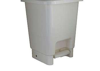 Cesto de lixo plástico com pedal