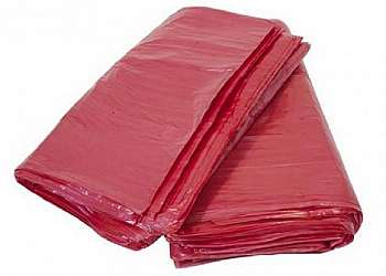 Lixeira de inox vermelha